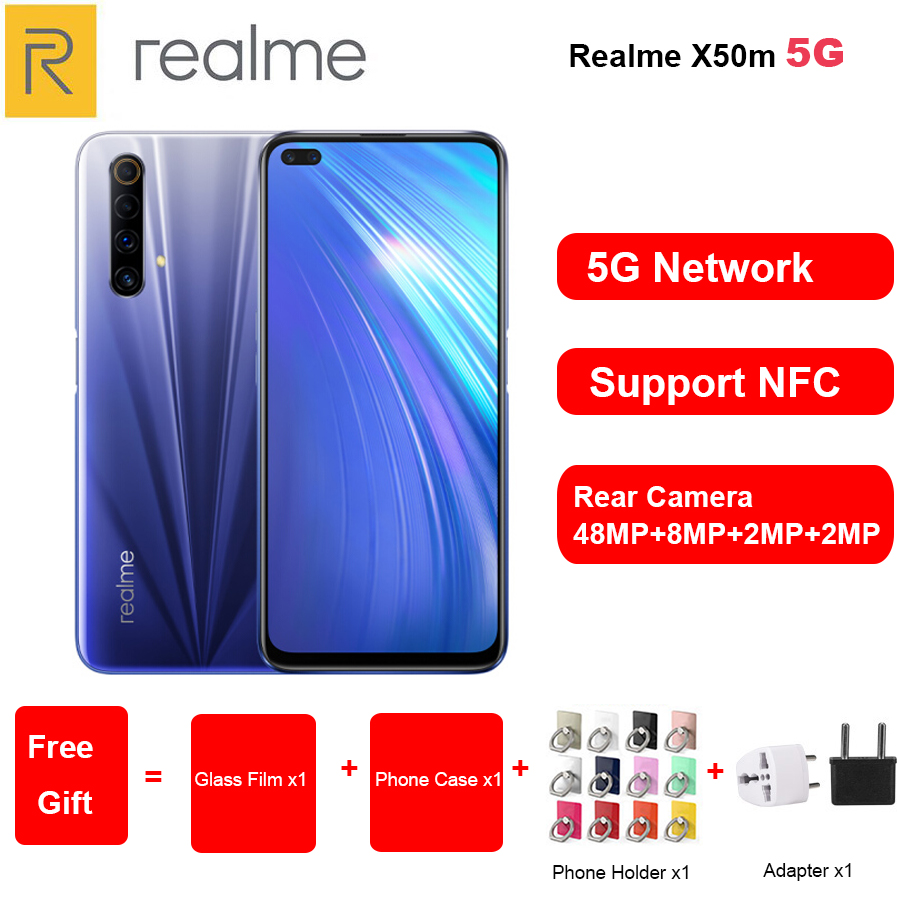 2020 New Realme X50m 5G Mobile Phone 6.57