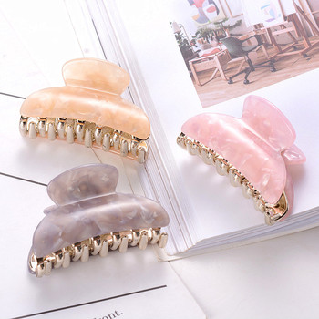 1PC Women Ladies Girls Beautiful Acrylic Hairpin Hair Claw Clip Barette Fashion Gold Crab Hairgrip Clamp Nice Hair Accessories chimera pearl hair claw large clip cloth flower crystal jaw hair crab clamp women acrylic hairgrip barrette vintage hair jewelry