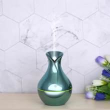 OTOKU 130ml USB Aroma Diffuser Mini Aromatherapy Wood Grain Air Humidifier Ultrasonic Essential Oil with 7 Color Lights