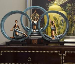 Современная Абстрактная статуя для йоги из смолы, скульптура для девушки/леди, различные позы, Декор для дома и студии йоги
