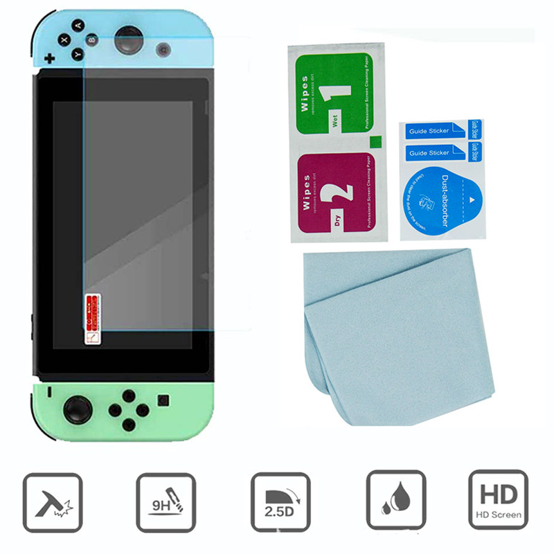 Animal Crossing Game Accessory Set For Nintendo Switch Travel Carrying Bag Protector Case Thumb Stick Grip Caps Charging Cable 6