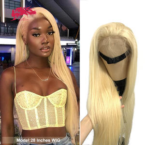 Human-Hair-Wigs Lace Closure Blonde Lace-Frontal Ali-Queen Straight Brazilian Virgin-13x4