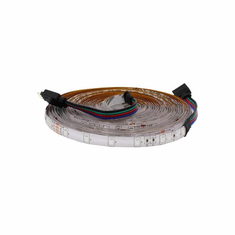 5 m/לחמניות עמיד למים rgb led רצועת ניאון אור חם לבן כחול אדום ירוק LED סרט גמיש אור הרצועה קלטת מתאם 12v