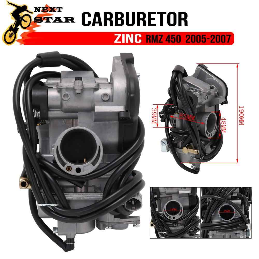 Motorcycle Zinc Carburetor Carburador 48mm With Power Jet For FCR-MX33 MX 33 For Suzuki RMZ450 RM450Z RMZ 450 2005 2006 2007