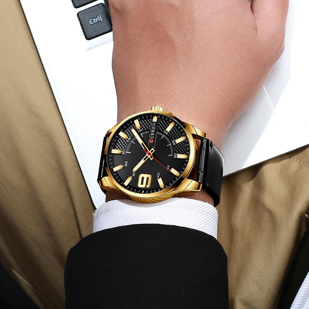 H3b3901c744ac4d4cbeb99a9c8d5fc8b8B Top Brand Luxury Business Watch Men CURREN Watches