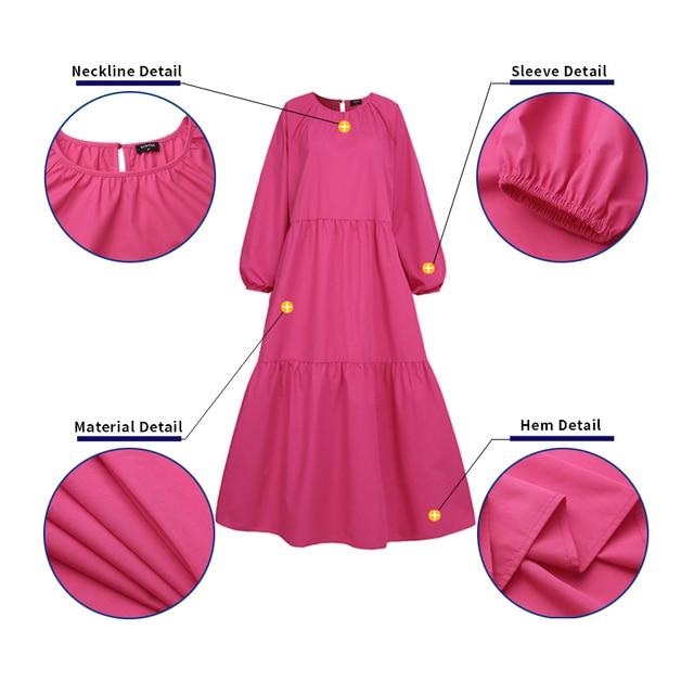 Купить пляжное длинное платье vonda 2021 повседневное женское однотонное картинки цена