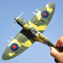20*18CM montaż Fighter zabawki modele zestawy narzędzi budowlanych samolot bojowy Diecast War-II BF-109 Hurricane Spitfire Pirate Military