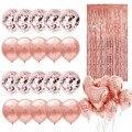 Воздушный шар из фольги с цифрами цвета розового золота, украшения для вечеринки в честь Дня Рождения, детский праздник для будущей матери, ...