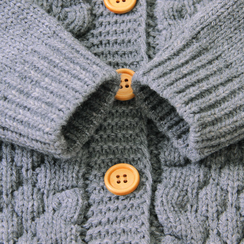 Pudcoco 2019 new 0-24 m 겨울 유아 아기 소녀 소년 따뜻한 코트 3d 귀 후드 긴 소매 니트 러블리 코트 outwears 4 색
