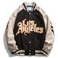 Мужская бейсбольная куртка с вышивкой, повседневная куртка-бомбер в стиле пэчворк для пар, уличная одежда унисекс для колледжа, весна-осень ...
