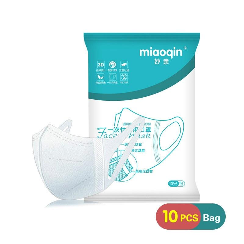 10/30/50 Pcs Disposable Facs Masks Ear 3 Layer Filters Protective 3D Anti Haze Breathable Dust Mask
