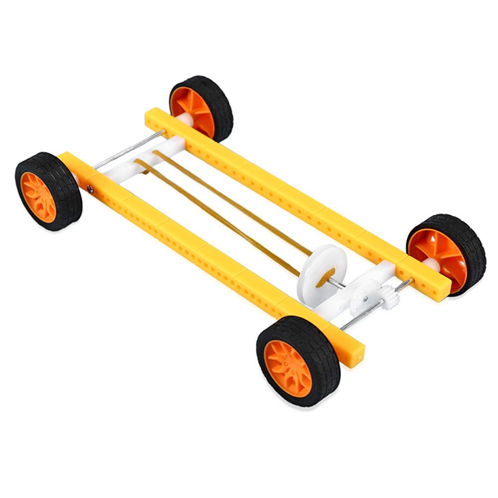 DIY Wood Pull Back Car Toy Small Production Model Rubber Band Pull Back Car Toy DIY Materials Kit