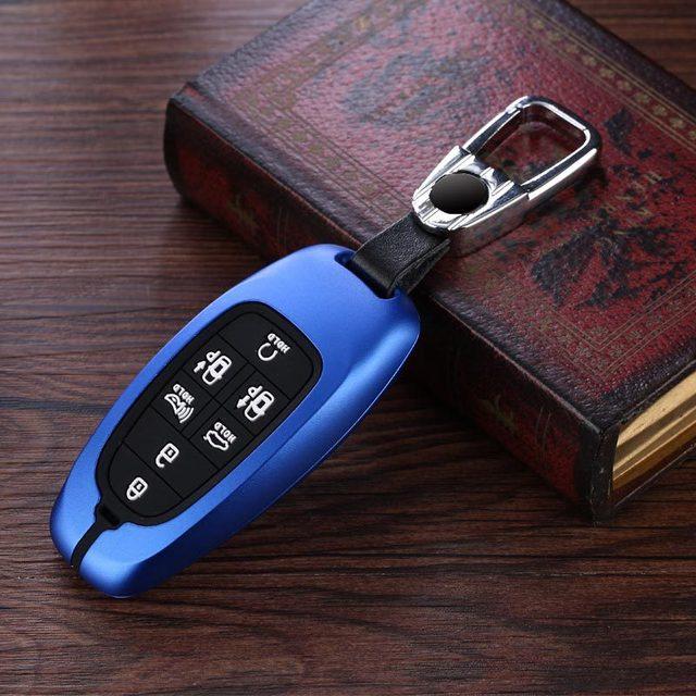 سبائك الألومنيوم سيليكون سيارة حافظة مفتاح بعيد فوب غطاء لشركة هيونداي Nexo سوناتا 2019 2020