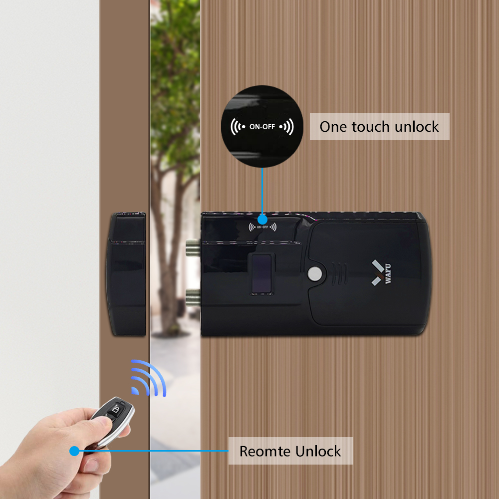 Image 4 - WAFU Smart Invisible Lock 011A  Electric Door Lock Wireless Remote Control  Anti thief Keyless Electronic Smart Door Lock-in Electric Lock from Security & Protection