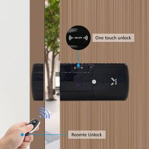 Image 4 - WAFU Smart Invisible Lock 011A  Electric Door Lock Wireless Remote Control  Anti thief Keyless Electronic Smart Door Lock