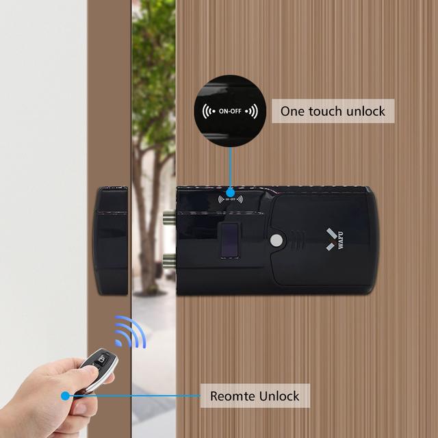 WAFU Smart Invisible Lock 011A  Electric Door Lock Wireless Remote Control with Anti-thief