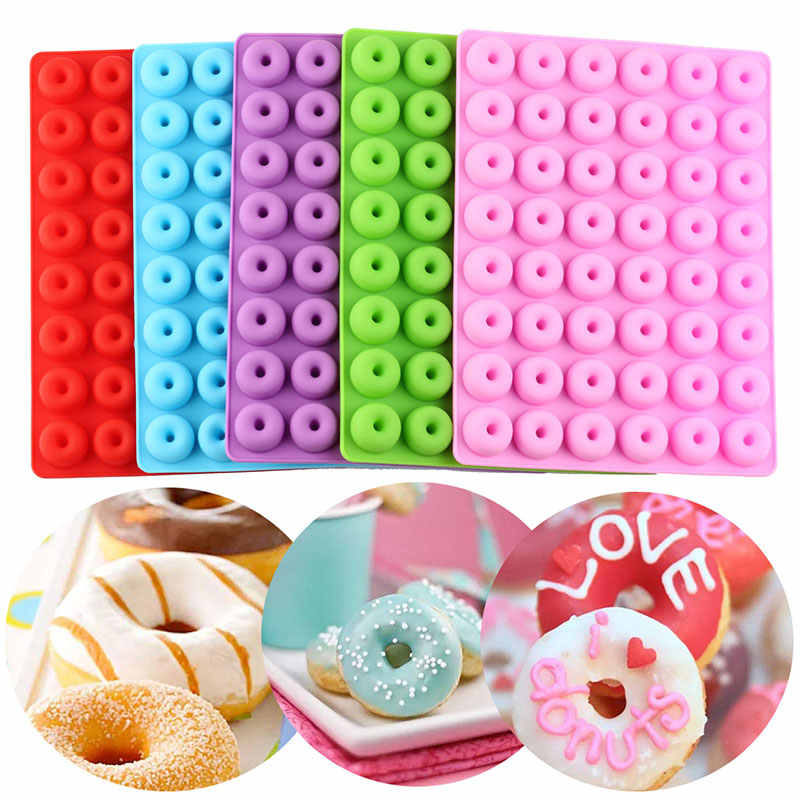 Gummy Chocolate Baking Mold Silicone Candy Jelly Mould DIY Ice Cube Tray Donut