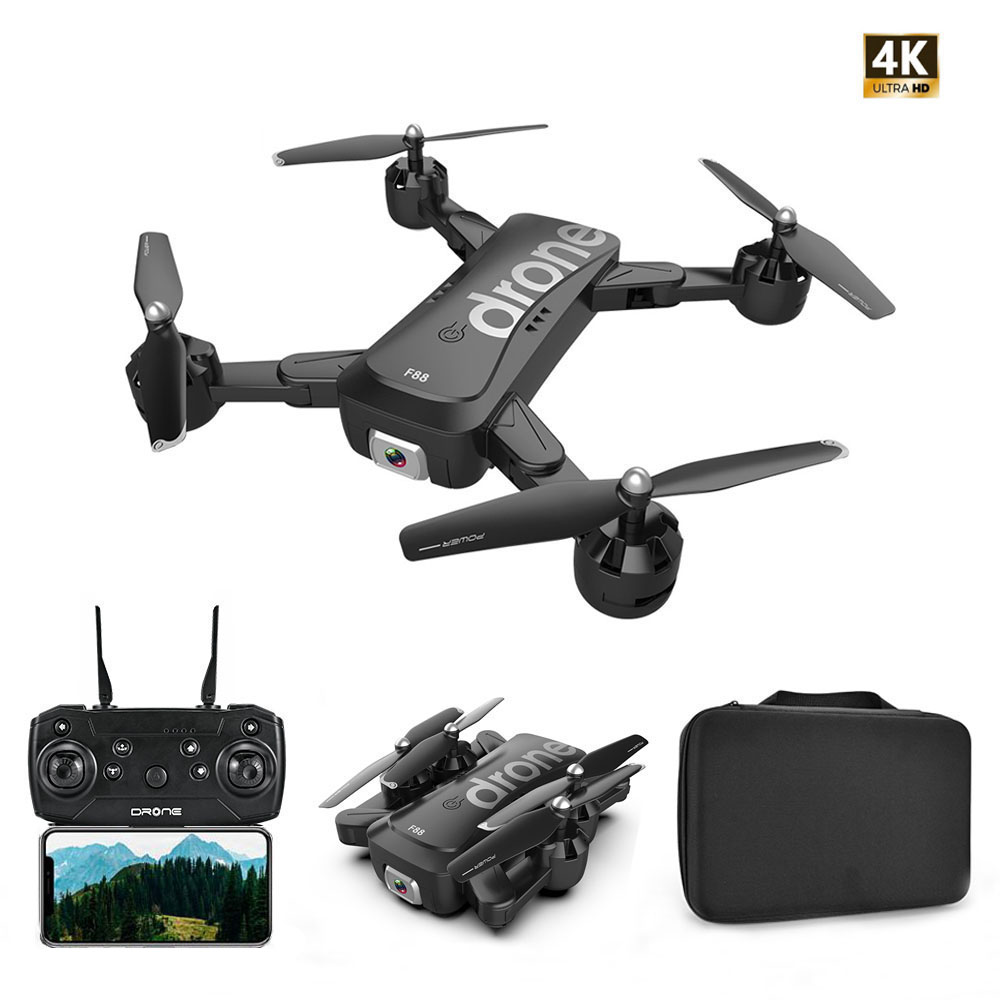 F88 Drone RC quadrirotor pliable Portable WiFi Drones avec 4K HD grand Angle caméra vidéo en direct Mode de maintien d'altitude Dron VS SG106