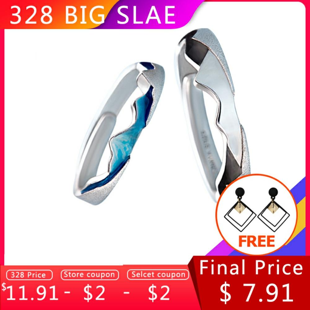 Thaya CoasttoCoast Design Rings Cool In Summer S925 Sterling Silver Jewelry Couple Ring For Wedding Engagement Gift
