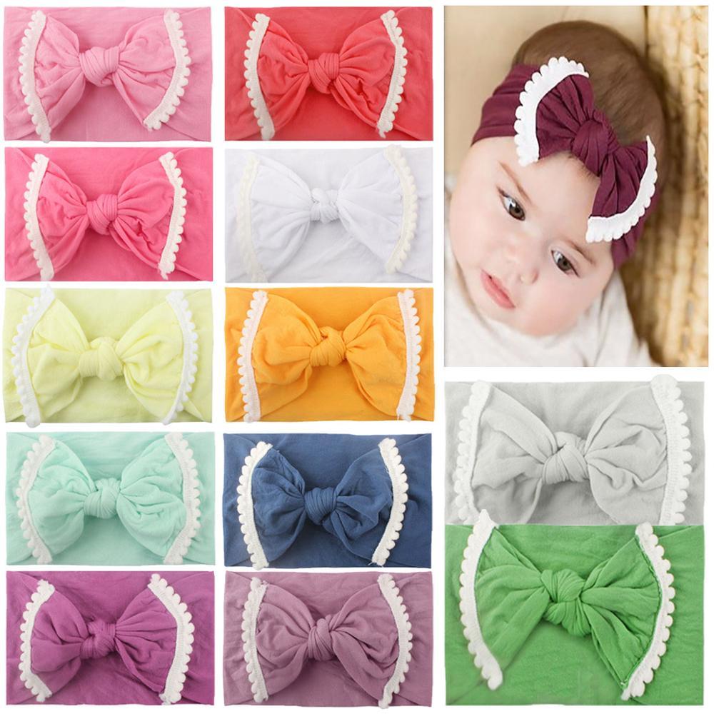 12PCS Baby and Mom Headbands Bow Knot Turban Head Wrap Hair Bands Elastic Headwear
