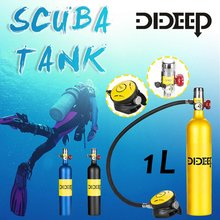 DIDEEP Diving System 1L/0.5L Scuba Oxygen Cylinder Diving Air Tank Scuba Diving Respirator Set Snorkeling Breathing Equipment(China)