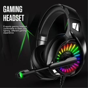Image 3 - A20 PS4 Gaming Kopfhörer 4D Stereo RGB Festzelt Kopfhörer Headset mit Mikrofon für Xbox One/Laptop/Computer tablet Gamer