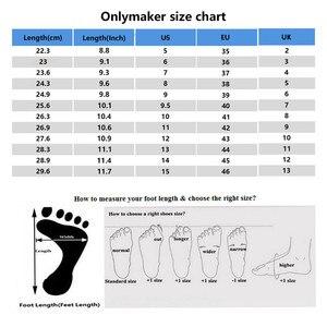 Image 5 - Onlymaker נשים של פלטפורמת עגול הבוהן קרסול Booties13 ~ 14CM גבוהה העקב אלפבית תחרה עד שחור מגפיים בתוספת גודל