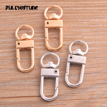 8pcs 13*34mm 2020 New Four Color Rhodium Plated Jewelry Findings,Lobster Clasp Hooks For Necklace&Bracelet Chain DIY