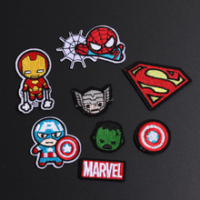 Iron On Captain America Avenger Shield Marvel Superhero Patches Cartoon Logo Kid Baby Boy Jacket T shirt Patch Sign Gift Costume