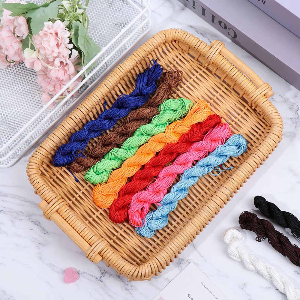 Cordón de Nylon Cordón de hilo cuentas chupete infantil Clip cadena collar masticable nudo chino macramé colgantes trenzados cadena 1,0mm
