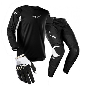 2020 PDMOTO FOX PRIX 180 Motorcycle Riding Protective Gear Sets MX XC Pants Qiuck-dry MTB Jersey Gloves Cycling Suits