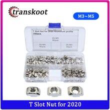 160pcs T Nut Assortment Kits M3 M4 M5 for 2020 Aluminum Extrusion Profile T Slot 6mm Nut T Bolt T Drop in Hammer Head Nut