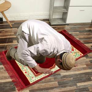 Image 3 - 80X120cm Prayer Mat Muslim Cashmere like Thicken Blanket Salat Musallah Prayer Rug Namaz Islamic Praying Mats