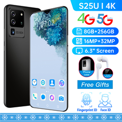 Global Version S25U 6.3-inch Full-screen Smartphone 8G 256G Fingerprint Unlocks the Dual Card Standby Ultraben Phone 4G Network