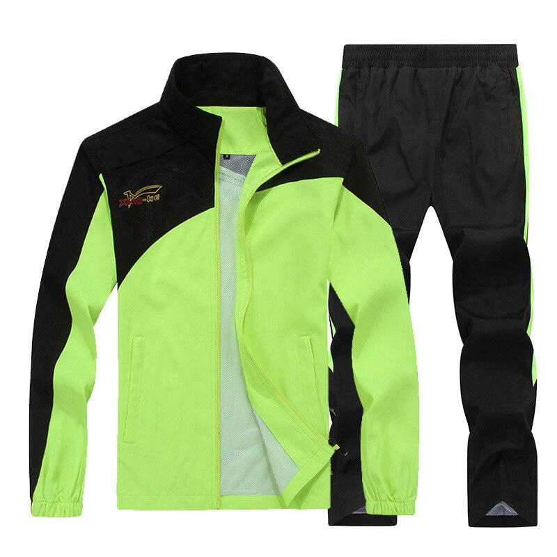 Men's Sets Sportswear Two-piece Suite Autumn Outerwear Men's Wear Pants 5XL Windproof Casual Coat Leisure MOOWNUC Couples Dress