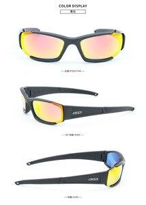 Image 3 - brand Original Polarized  Sunglasses Men UV400 4 Lenses Tactical Glasses  Army Goggles Ballistic Test Bullet Proof Eyewear