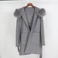 2021 шуба из натурального меха зимняя куртка женские свободные