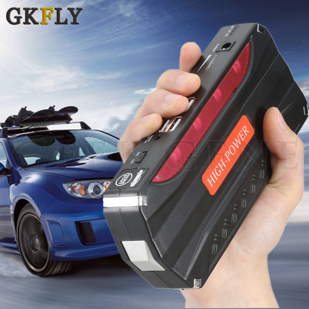 GKFLY Emergency Starting Device 12V 600A Portable Car Jump Starter Power Bank Petrol Diesel Car Charger For Car Battery Booster