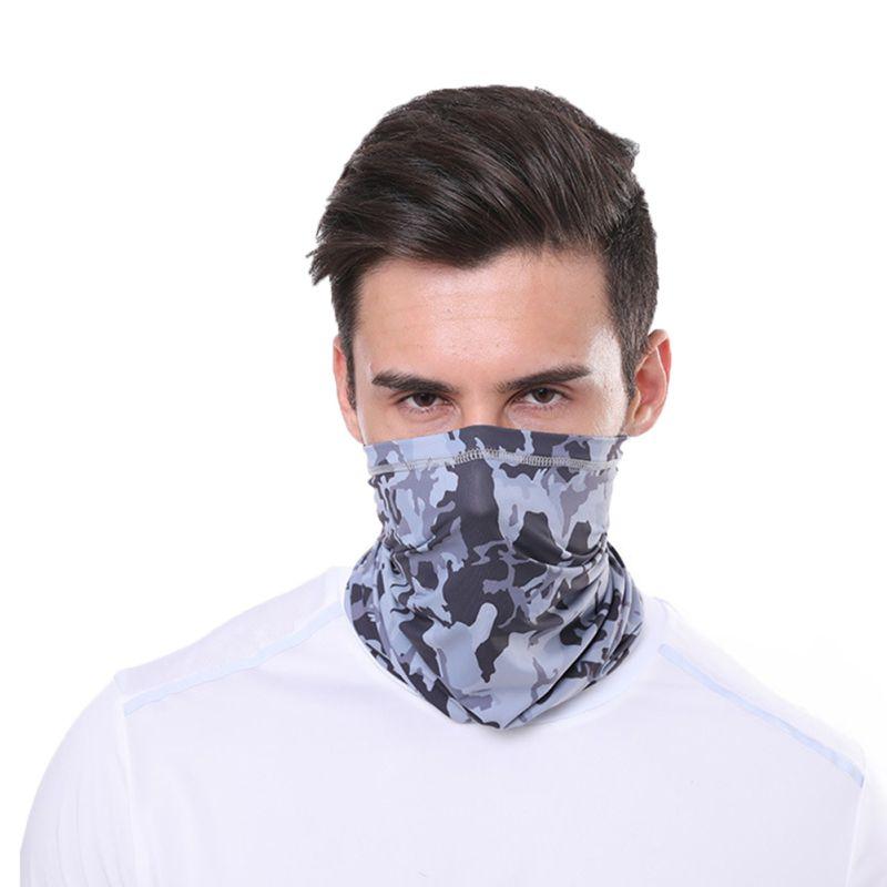 1pc Cycling Hiking Scarves Outdoor Sports Multifunctional Neck Mask Windproof Dustproof Rashguard Breathable Seamless Bandanas 1