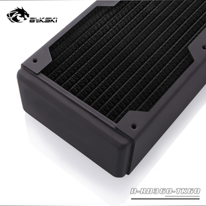 Image 5 - Bykski 60mm Thick 360mm Copper Computer Water Coolant Discharge Heat Sink Exchanger Radiator for 3*12cm Fan Raidator