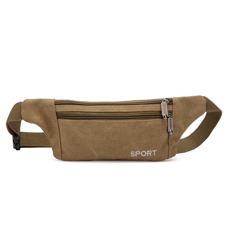 Wholesale Customizable Washing Canvas Ultra-Thin Hidden Wallet Casual Sports Men's Bag