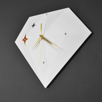 Yellow Novelty Wall Watch Shabby Chic Modern Unique Wall Clock Plastic Stars Homingdeco Mandelda Bestselling New Arrival GG50gz