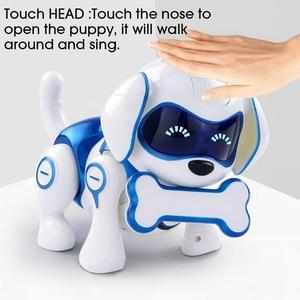 Умная танцевальная Прогулка для щенков с дистанционным управлением радиоуправляемый робот-собака электронные игрушки для детей игрушка с...