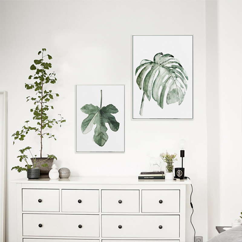 H3b3bbe0c3279460885563a990fbaed0ef ART ZONE Tropical Plant Leaves Canvas Art Print Poster Nordic Green Plant Wall Pictures Kids Room Large Painting No Frame
