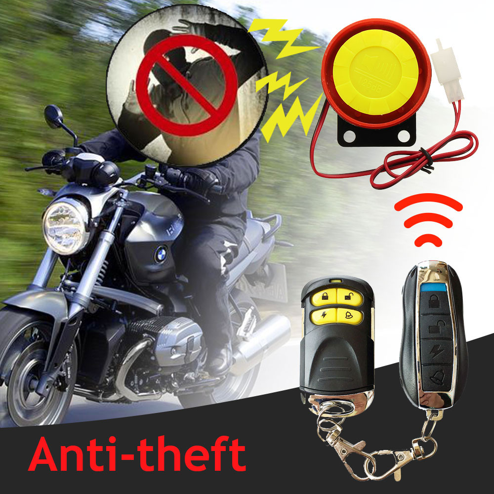 Vehemo Remote Control Motorcycle Auto Anti-Theft Alarm Security System Car Anti-Theft Alarm Universal Anti-Theft Alarm Scooter