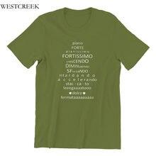 Piano forte pianissimo fortissimo crescendo diminu camisa masculina impressão roupas por atacado vintage groot 4xl 5xl 6xl tshirt 36521