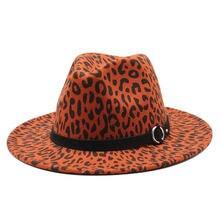 Фетровые шляпы с леопардовым принтом и пряжкой для ремня винтажные