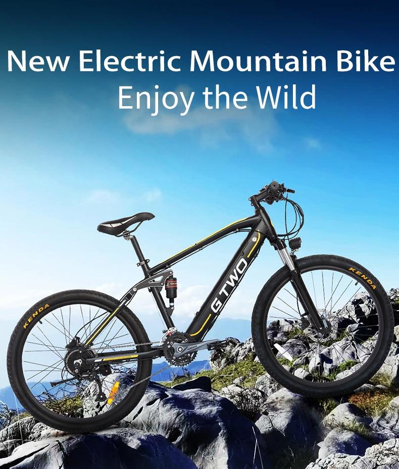 GG 2021 Новое поступление E-BIKE двойная подвеска съемный аккумулятор 350 Вт 500 Вт Электрический горный велосипед 26 дюймов 27,5 дюйма, олеофобное пок...