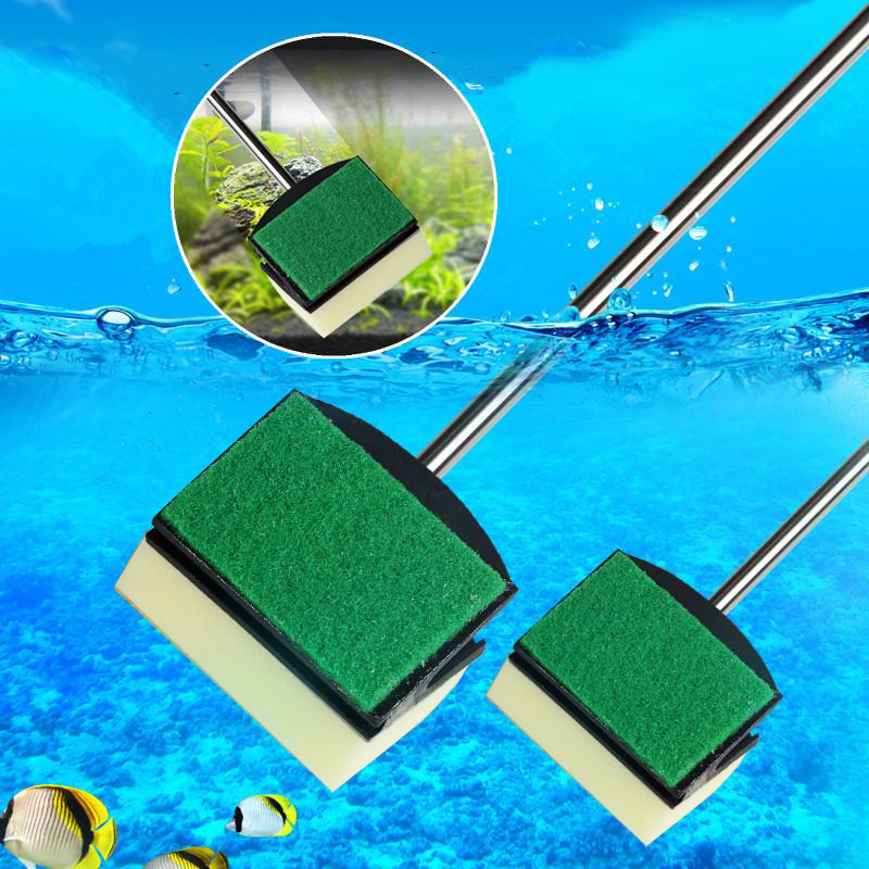 45CM Aquarium Shrimp Brush Tank Random Color For Fish Drop Shipping Pool Aquarium Cleaning Tool Sponge Double Sided Portable
