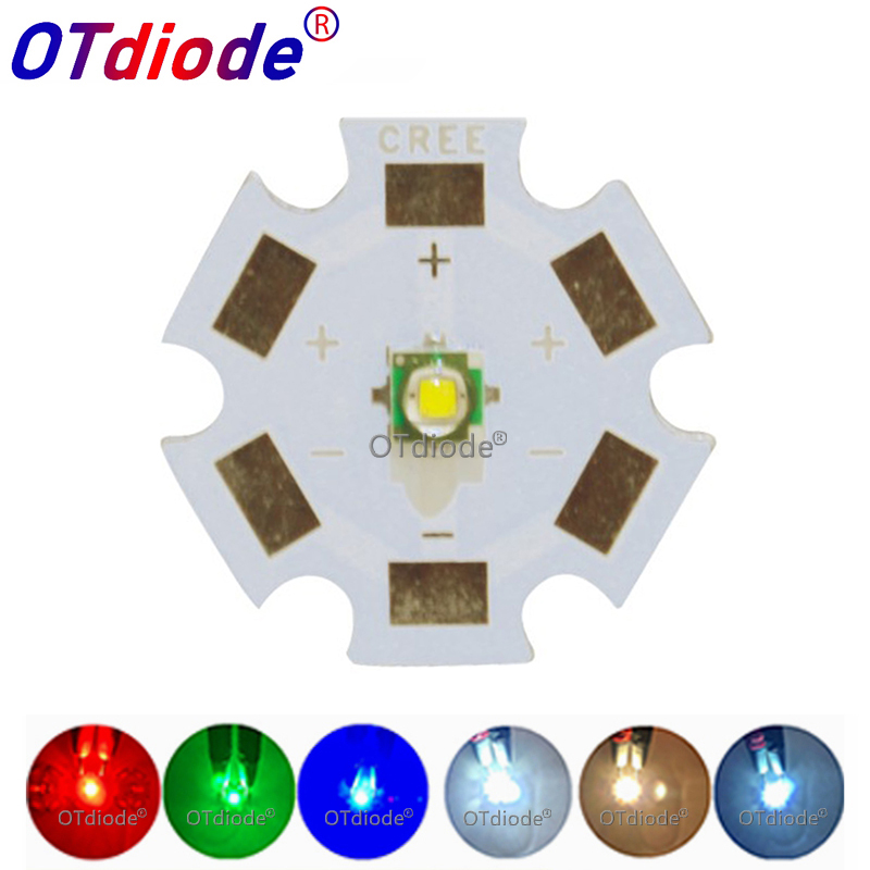 1pcs 3W Cree LED XPE XP-E R3 3535 SMD High Power LED Chip White Red Green Blue Yellow UV Pink Color With 16mm 20mm LED PCB